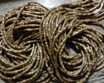 Light Brown Shell Heishi Beads 6
