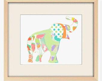 elephant nursery decor elephant art nursery wall decor nursery art baby girl nursery kids wall art elephant print modern nursery art