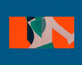 Abstract composition 531 - modern art  - minimal art - 84 x 60 cm - A1 - Limited edition