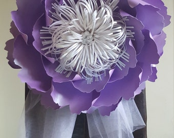 Giant Paper Flower Decoration-Purple-Table and Chair Decorations-Paper Flower Backdrop-Paper Flower Wall
