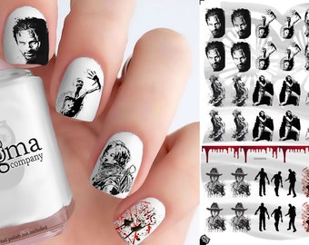 Walking Dead Nail Decals - Vol I Large (Set of 38)