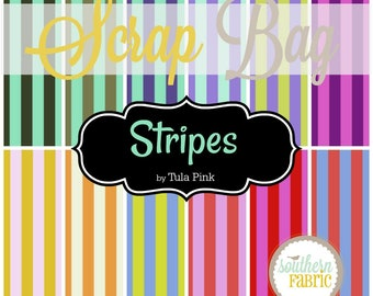 Stripes - Scrap Bag Quilt Fabric Strips by Tula Pink for Free Spirit