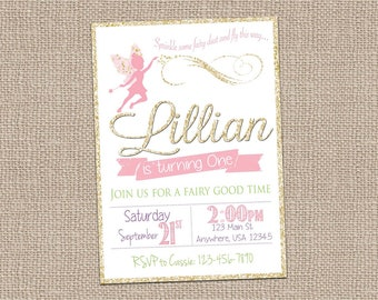 Fairy Invitation- Fairy Invite- Woodland Fairy Invite-Woodland Birthday-Tinkerbell Invite