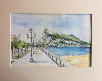 The Rock of Gibraltar from La Linea  #1