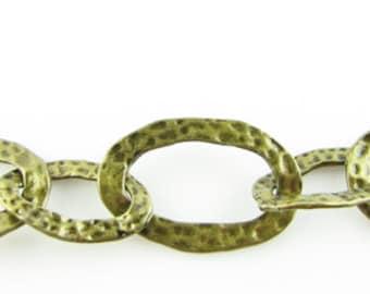 "35""  Antique bronze large link handmade chain"