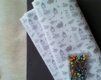 Creating prints for cloud pattern fabric