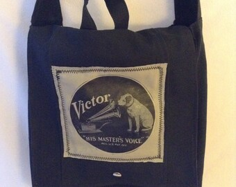 The 2D Original Book Bag Small Messenger bag,School bag,Canvas bag, Retro,Book bag,Library bag,Black messenger bag,CrossbodyBag