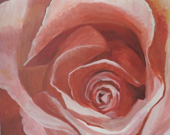 Abstract Rose Art, Painting of a Rose, abstract floral art, Abstract Rose Painting
