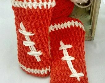 Baby leg warmers - football leg warmer - baby photo prop football leg warmer  - infant college football leg cover - custom infant photo prop