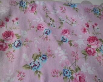 50 x 50 cm fabric cotton patchwork pink floral flower