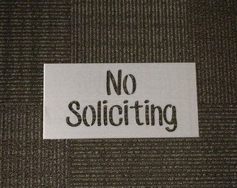 Metal Sign: No Soliciting
