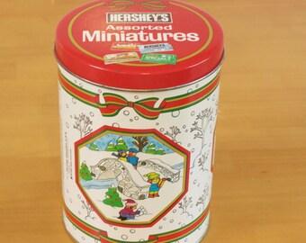 Vintage 1992 Hershey's Christmas Tin Box