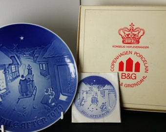 Vintage Bing & Grondahl Christmas Plate 1979 Jule After 1979 (White Christmas)