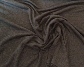 Thick, dark grey jersey fabric
