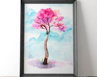 Watercolor Spine, Spine Gift, Spine Art Anatomy Art, Spinal Column, Chiropractic Poster, Vertebrae Art, Chiropractor Gift, Chiropractic Art