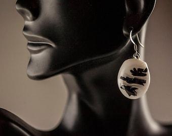 Rorschach Dangle Earrings