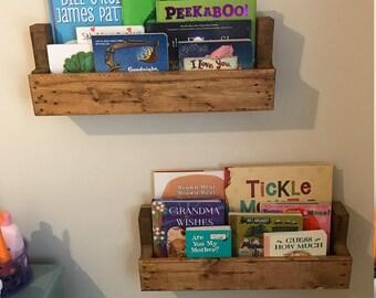 Pair of Nursery Bookshelf