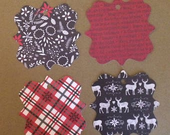 "20 - 3""  Christmas Gift Tags - Favor Tags   T11"