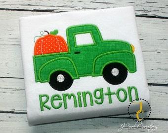 Pumpkin Truck Shirt - Thanksgiving Shirt, Thanksgiving Outfit, Truck Shirt, Boys Thanksgiving Shirt, Pumpkin Shirt, Boys Halloween Shirt