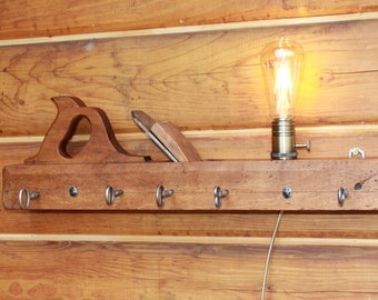 Wall lamp and wardrobe-antique planer