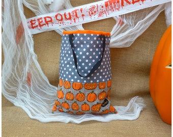 Halloween Bag Personalised Halloween Bag Pumpkin, Trick-or-Treat Bag Personalized Halloween Bag, Treat Bag Halloween Goodie Bags, Loot Bags