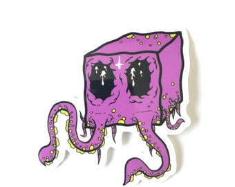 Cube Squid Sticker