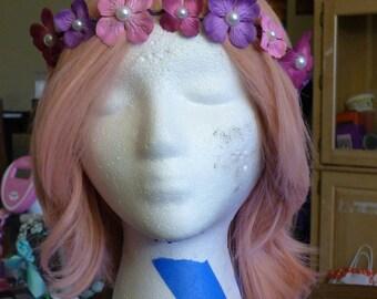 Pink lady Flower crown
