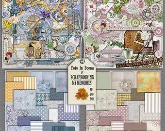 Digital kit SCRAPPING MEMORIES, memories, papers, embelishments, scraps, scrapbook,