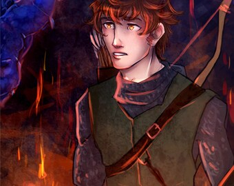 Eragon and Saphira 11x14Print | Inheritance