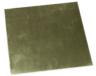 "Red Brass Sheet 20ga 6"" x 6"" 0.81mm Thick  (BS20-6)"