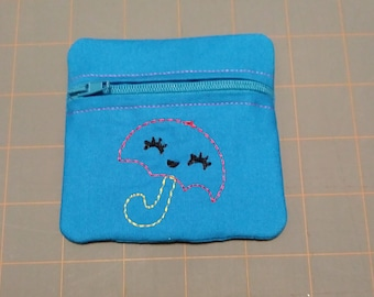 Umbrella coin purse pouch