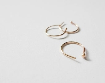 14k ROSE gold and sterling SILVER combo | 22g nose ring bundle | slim fit