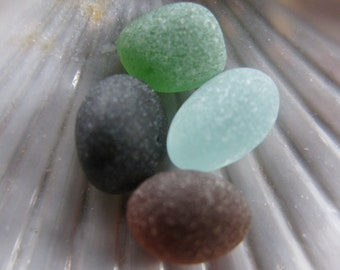 Beach Glass Beads, Jewelry Supply, Sea Glass Supply, Genuine Sea Glass Round, Sea Glass Jewelry Supply, Art Craft Supply