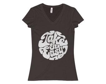 WomenS Jersey Short Sleeve VNeck Tee
