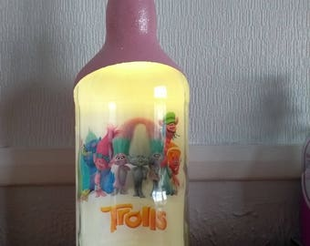 huge 2L handmade upcycled the trolls bottle lamp nightlight gift idea