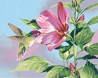Paintworks Paint By Number, Hibiscus Hummingbird