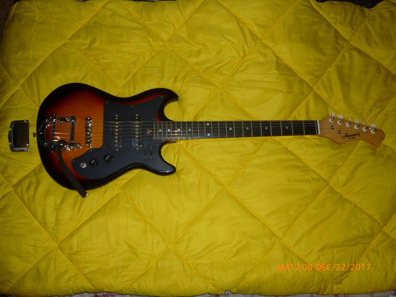 Electric Guitar Harmony H 802 Vintage 1968 Harmony Bigsby