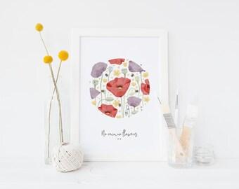 A4 & A3 Floral Print - No Rain, No Flowers (Part 1)