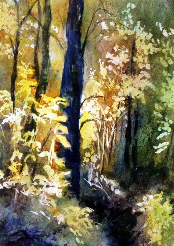 Columbia Gorge Forest - a signed print - Columbia Gorge artist Bonnie White - Gorge Artist