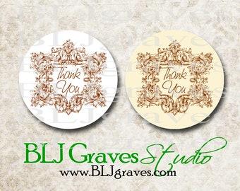 Stickers Thank You Envelope Seals Wedding Party Favor Treat Bag Sticker SP023