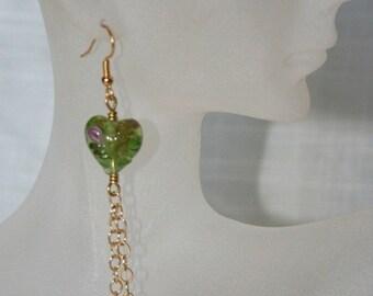 Spring gold earring