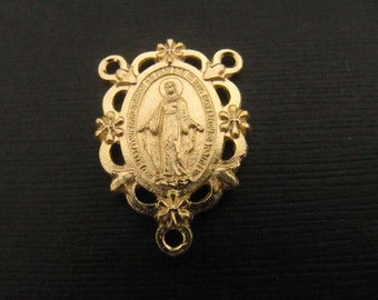 Gorgeous Gold Italian Miraculous Medal Rosary Center