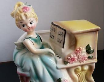 Rubens Originals Piano Girl Planter