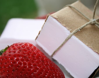 Strawberry Vanilla Goat's Milk Soap