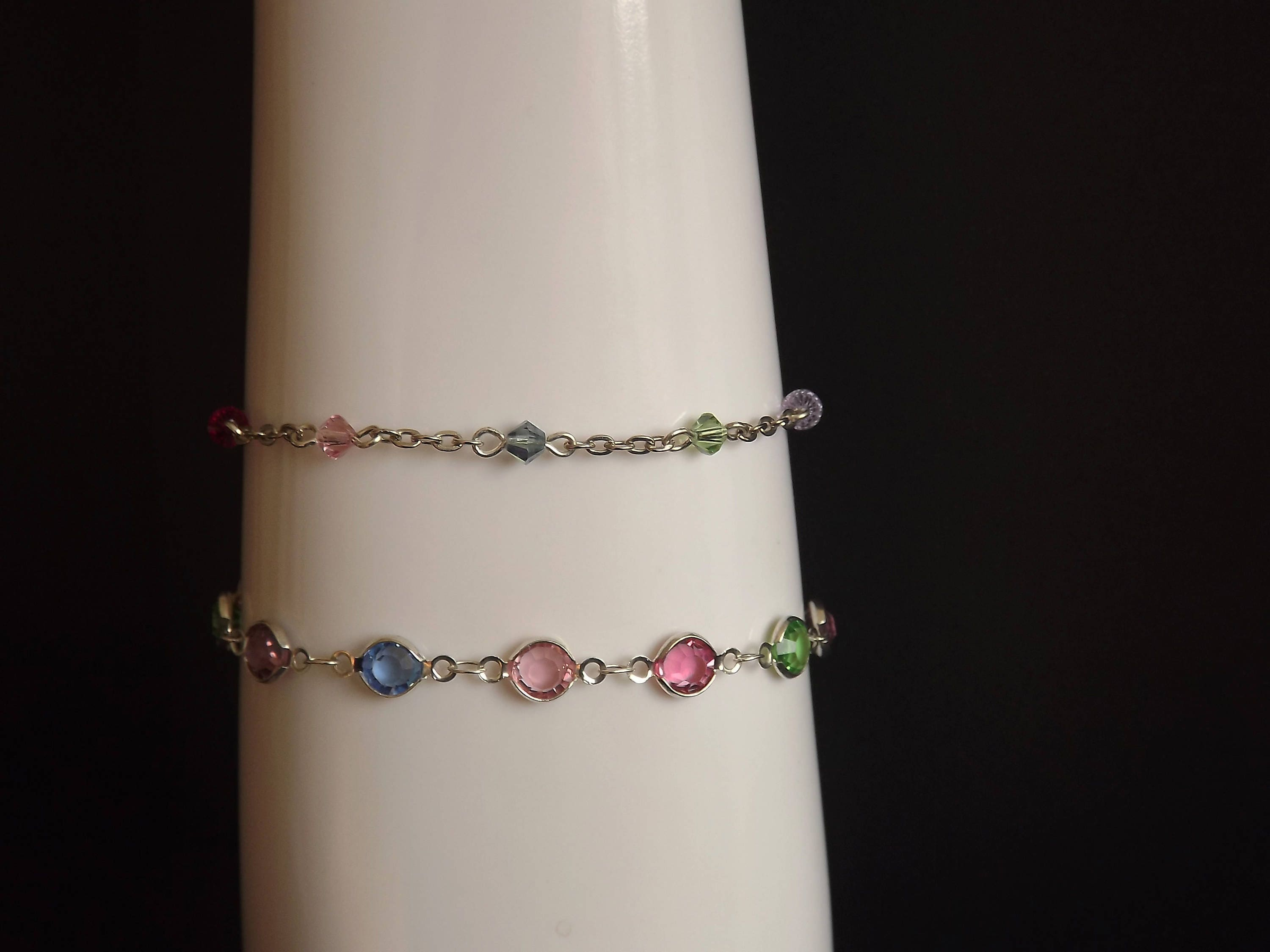 birthstone ankletturquoise anklet fullxfull sterling photo listing gallery and turquoise pearls silver il