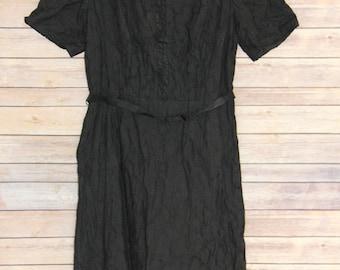 """Vintage Black Eyelet """"Lady Franklin"""" Dress"""