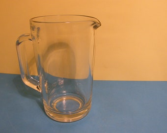Vintage Anchor Hocking Heavy Clear Glass Pitcher