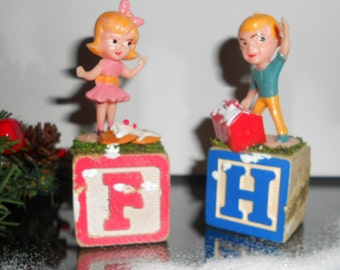 Holiday Altered Art  Vintage Altered Fritzi and Hans On Their Way to The Gingerbread House