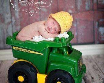 Custom Crochet Hard Hat Baby Hat