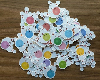 Bowling Die Cuts, Punchies, Punches, Embellishments, Party Favors, Toppers, Decor